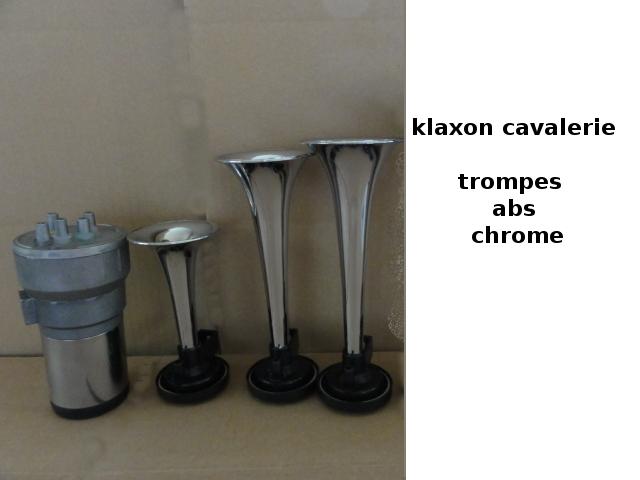 klaxon charge de cavalerie 12 v trompe abs chrome. Black Bedroom Furniture Sets. Home Design Ideas
