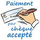 logo paiement par chèque accepté