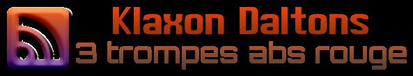 logo du klaxon les daltons 3 trompes abs rouge