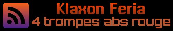 logo du klaxon feria & olé 4 trompes abs rouge