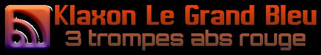 logo du klaxon le grand bleu 3 trompes abs rouge