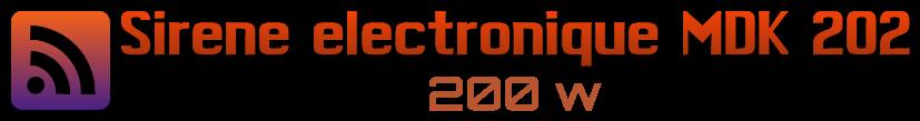 logo pour le klaxon sirene electronique MDK 202 200 w 12volts 12 tons