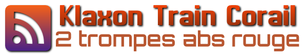 logo du klaxon train corail 2 trompes abs rouge