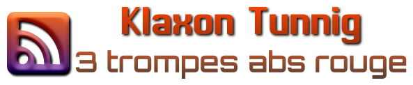 logo du klaxon tunning 3 trompes abs rouge
